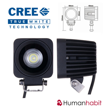 10W LED miniatyr 8° spot CREE 12-24V