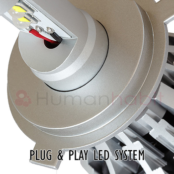 H4 LED konvertering 3000 lumen plug and play