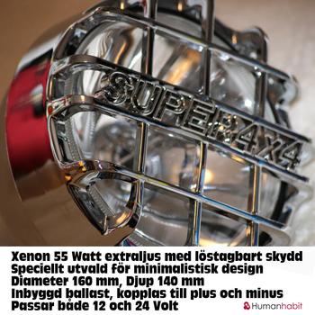 55W Xenon Extraljus Ø165mm 9-32V Krom