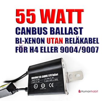55 Watt Canbus ballast för bi-xenon utan reläkabel