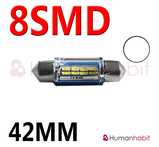 42mm spollampa kapslad med 8st 3014 SMD - Vit