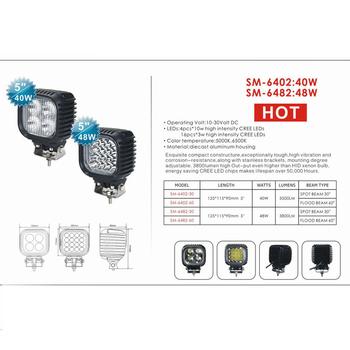 6 pack 48W Heavy Duty LED arbetsbelysning CREE XBD 4-punkts upphängd