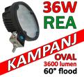 36W LED arbetsbelysning 60° CREE XB-D 12-24V