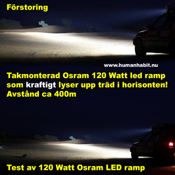 120W LED ramp Osram 4D optik COMBO sidomonterad