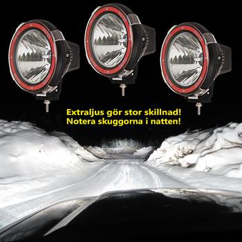55W Xenon Extraljus Ø140mm 9-32V Röd