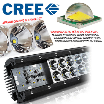 120W LED ramp CREE XB-D curved E-mark 630 mm