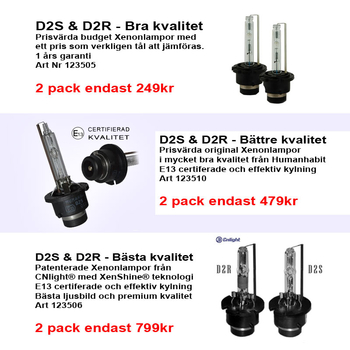 Original D2S/D2R xenonlampa 35W E13