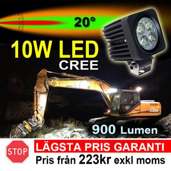 10W LED miniatyr 20° CREE 12-24V