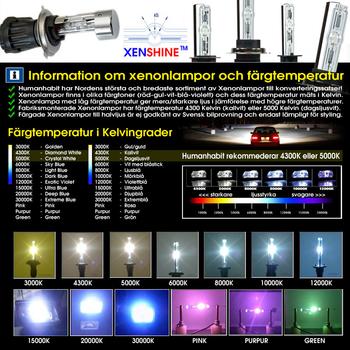 55w H4 Bi-Xenon Kit reläkabellös - Bil, MC