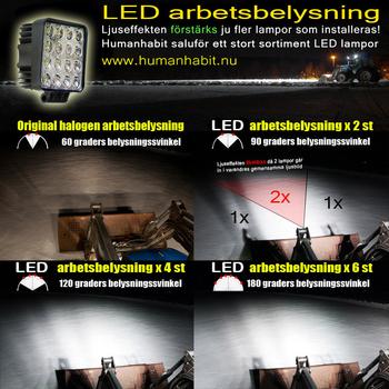 15W mini LED arbetsbelysning 60° 12-24V