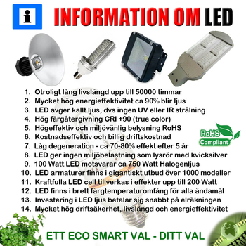 72W ledlampa 220VAC 9-32V