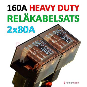 Reläkabelsats 160A Heavy Duty för 1-5st extraljus eller 1-5st xenon ballast (drivdon)