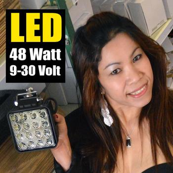 2 pack 48W LED flerpack rabattköp 60° CREE 12-24V