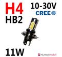 11W H4 dimljus CREE LED 10-30V non-polarized