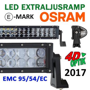 36-288W LED ramp Osram 4D optik E-mark EMC sidomonterad 2017