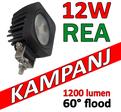 12W CREE LED miniatyr 60° flood 9-32V E-märkt L0105