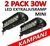 2 pack 30 Watt miniatyr LED extraljusramp SPOT 9-32 Volt