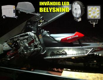 10 pack 15W ECE R10 LED arbetsbelysning 60° Epistar 12-24V