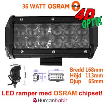 18-306W LED ramp Osram Extreme 4D fäste undertill