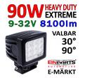 90W LED CREE arbetsbelysning valbar 30° spot eller 90° flood