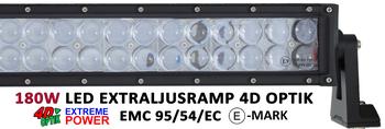 180W LED ramp Osram 4D optik E-mark EMC sidomonterad 885mm