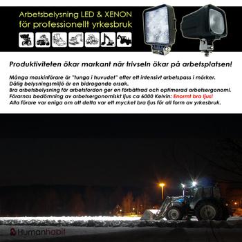 27W LED strålkastare 30° CREE XB-D 12-24V