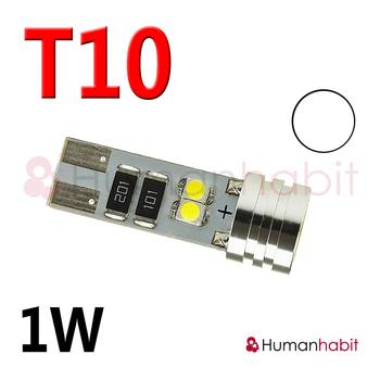 T10 1W + 4LED SMD1210 Canbus 12V Vit