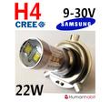 H4  22W med 12st Samsung  2323 SMD 10W CREE 9-30V