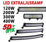120-400W 5D optik LED extraljusramp Extreme valbar böjd & rak chassi