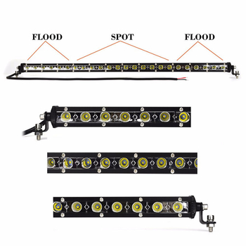 Mini LED extraljusramp COMBO valbar 54, 72, 90 och 108W 9-32V