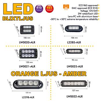 LED blixtljusramp 365mm ECE R10 R65 - BKL0005