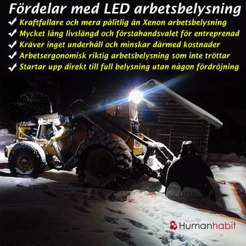 2 pack 27W LED arbetsbelysning 60° 9-32V