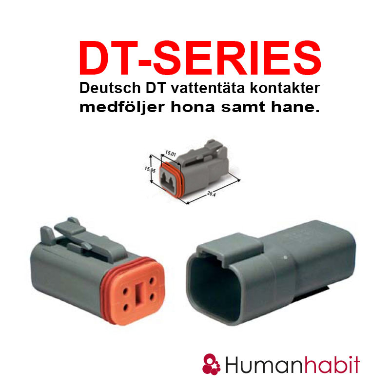 Toppen Human Habit LTD - Deutsch DT anslutningskontakt 2 pin hona samt hane IS-41